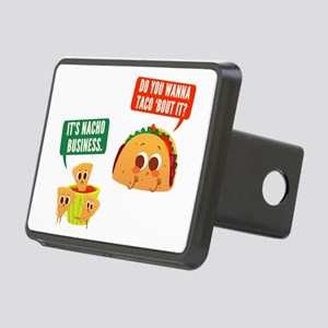 Nacho Business Pun Rectangular Hitch Cover