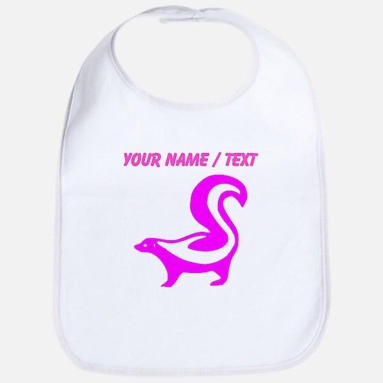 Custom Pink Skunk Bib