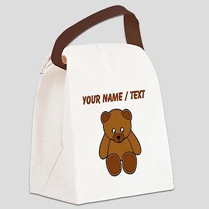 Custom Teddy Bear Canvas Lunch Bag
