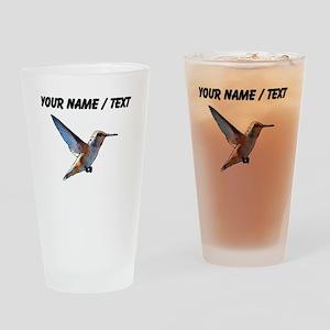 Custom Hummingbird Drinking Glass