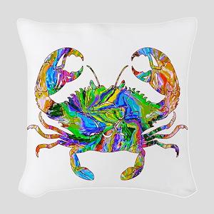 Crabby Woven Throw Pillow