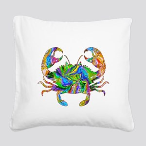 Crabby Square Canvas Pillow