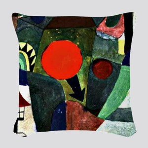 Paul Klee art - With the Setti Woven Throw Pillow