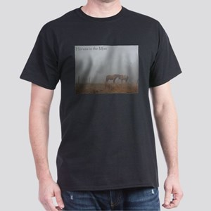 Horses in the Mist Dark T-Shirt