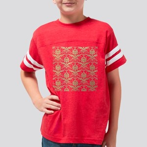 Vintage damask pattern in ant Youth Football Shirt