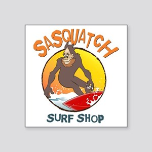 "Sasquatch Surf Shop Square Sticker 3"" x 3"""