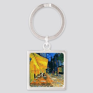 Van Gogh - Cafe Terrace Square Keychain