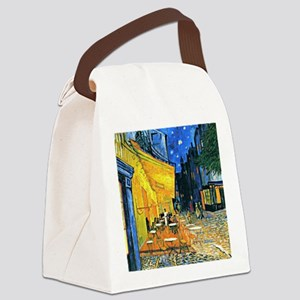 Van Gogh - Cafe Terrace Canvas Lunch Bag