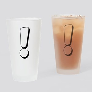 Exclamation Mark White Drinking Glass