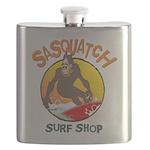 Sasquatch Surf Shop Flask