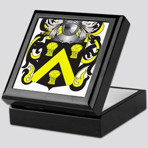 Wickes Family Crest (Coat of Arms) Keepsake Box
