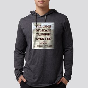 The Union Of Means - Algerian Mens Hooded Shirt