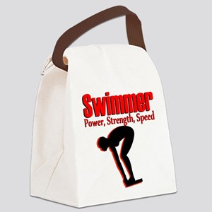 BORN TO SWIM Canvas Lunch Bag