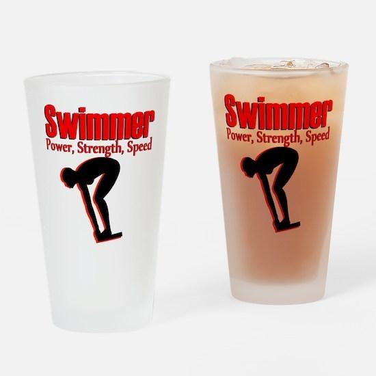 BORN TO SWIM Drinking Glass