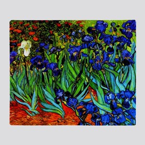Van Gogh - Irises Throw Blanket