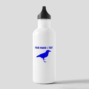Custom Blue Raven Sports Water Bottle