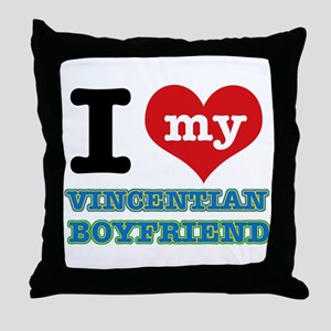 I love my Vincentian Boyfriend Throw Pillow