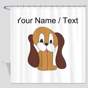 Custom Cartoon Dog Shower Curtain