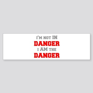 Im-not-in-dager-fresh-gray-red Bumper Sticker