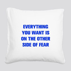 everything-you-want-fear-AKZ-BLUE Square Canvas Pi