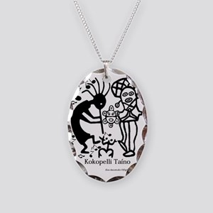 Taino Kokoppelli Necklace Oval Charm