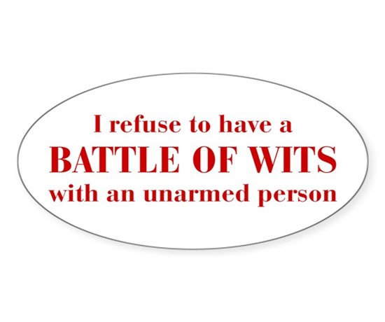 Battle of wits bod dark red decal