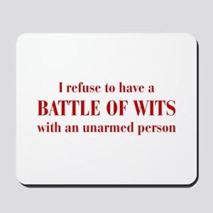 battle-of-wits-bod-dark-red Mousepad