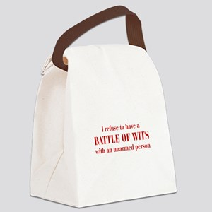 battle-of-wits-bod-dark-red Canvas Lunch Bag