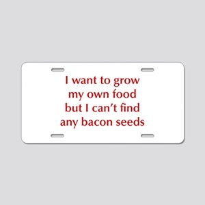 bacon-seeds-opt-dark-red Aluminum License Plate