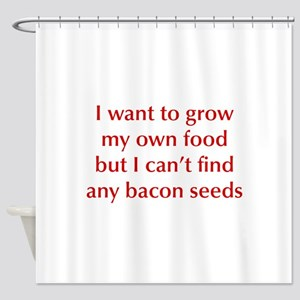 bacon-seeds-opt-dark-red Shower Curtain