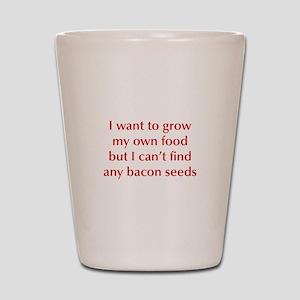 bacon-seeds-opt-dark-red Shot Glass