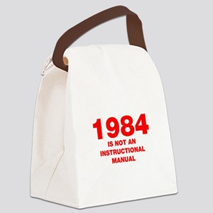 1984-HEL95-RED Canvas Lunch Bag