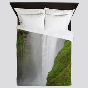 gigantic waterfall Queen Duvet