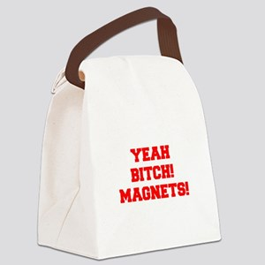 yeah-bitch-magnets-FRESH-RED Canvas Lunch Bag