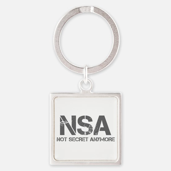 nsa-not-secret-anymore-cap-gray Keychains