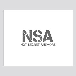 nsa-not-secret-anymore-cap-gray Posters
