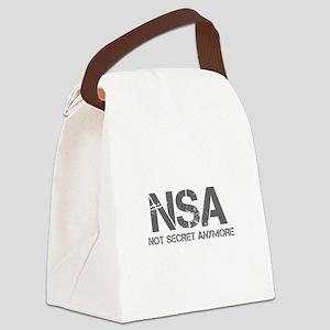 nsa-not-secret-anymore-cap-gray Canvas Lunch Bag