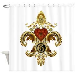 Monogram G Fleur de lis 2 Shower Curtain