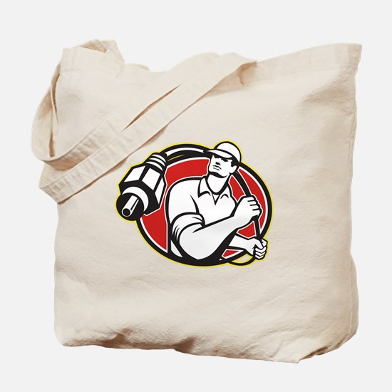 Cable TV Installer Guy Tote Bag