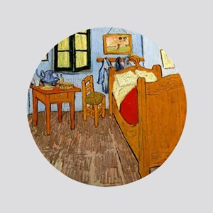 """Van Gogh - Vincent's Bed in Arles 3.5"""" Button"""