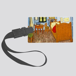 Van Gogh - Vincent's Bed in Arle Large Luggage Tag