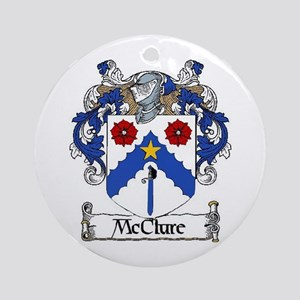 McClure Coat of Arms Ornament (Round)