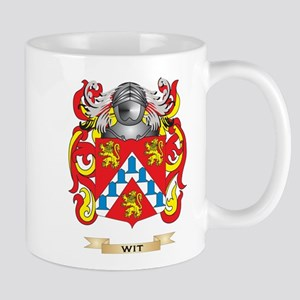 Wit Family Crest (Coat of Arms) Mugs