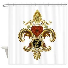Monogram Z Fleur de lis 2 Shower Curtain