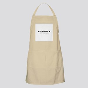 My PEACOCK is my Best Friend BBQ Apron