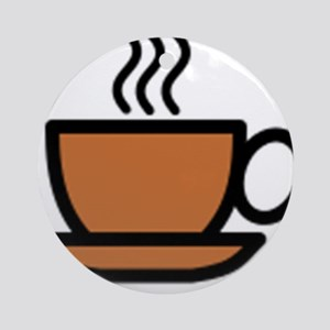 Hot Cup of Coffee Ornament (Round)