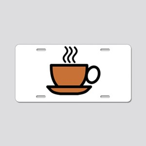 Hot Cup of Coffee Aluminum License Plate