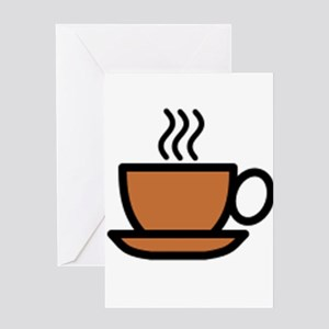 Hot Cup of Coffee Greeting Cards