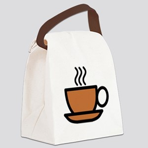 Hot Cup of Coffee Canvas Lunch Bag