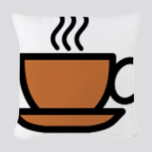Hot Cup of Coffee Woven Throw Pillow